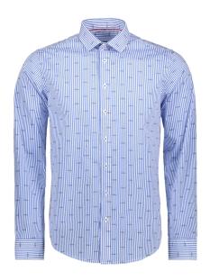 Haze & Finn Overhemd SHIRT AOP STRETCH MC11 0100 04 SAILING STRIPE