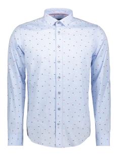 Haze & Finn Overhemd SHIRT PRINTED OXFORD MC11 0103 LIGHT BLUE WHALE