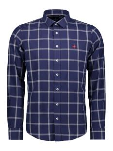 Haze & Finn Overhemd SHIRT BIG CHECK MU11 0104 INDIGO