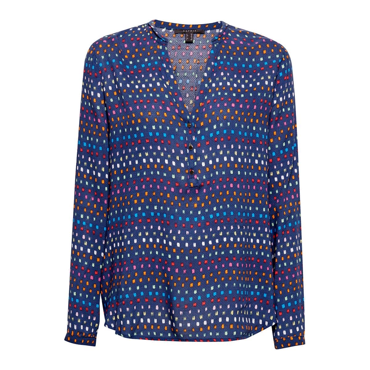 blouse met henleyhals 039eo1f001 esprit collection blouse e400