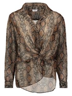 nmmia snake l/s wrap shirt x4 27007719 noisy may blouse black/neutral snake