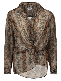Noisy may Blouse NMMIA SNAKE L/S WRAP SHIRT X4 27007719 Black/NEUTRAL SNAKE