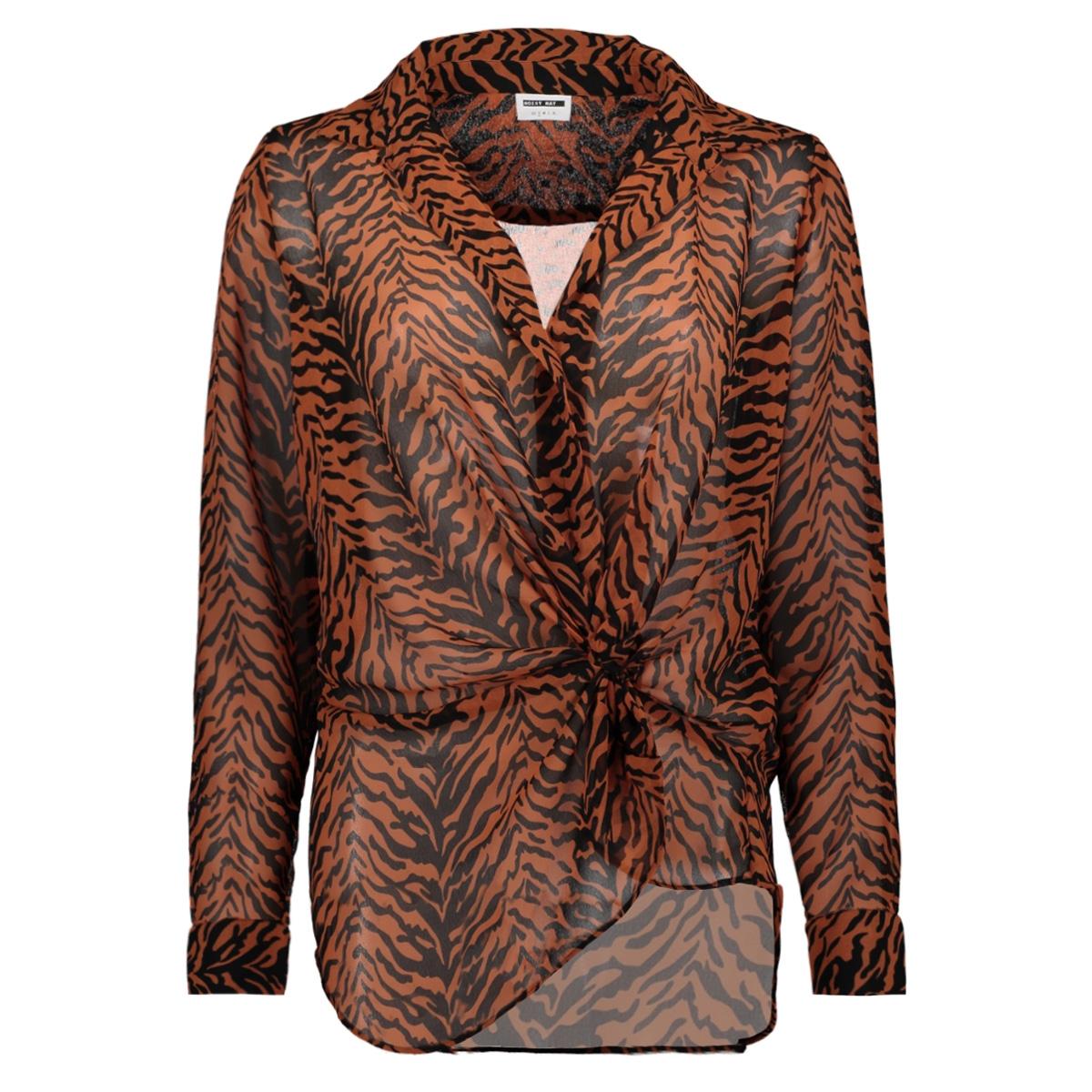 nmmia snake l/s wrap shirt x4 27007719 noisy may blouse black/auburn&black