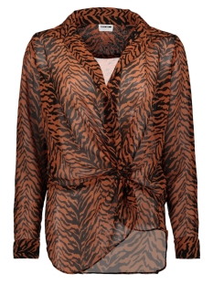 Noisy may Blouse NMMIA SNAKE L/S WRAP SHIRT X4 27007719 Black/AUBURN&BLACK