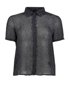 vmdotty ss shirt wvn 10211817 vero moda blouse night sky/snow white