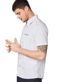 overhemd met korte mouwen en motief 1009537xx10 tom tailor overhemd 16865
