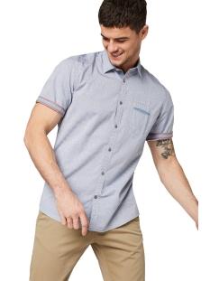 overhemd met korte mouwen en motief 1009537xx10 tom tailor overhemd 16860