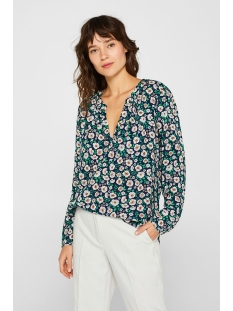 blouse met print en henley hals 039ee1f001 esprit blouse e401