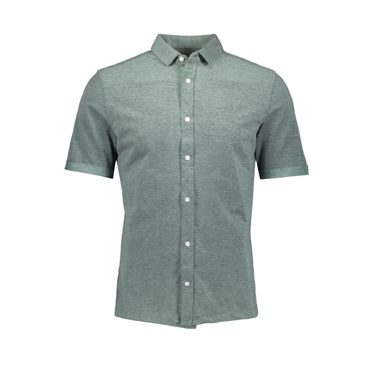 onscuton ss knitted melange shirt r 22011833 only & sons overhemd grayed jade