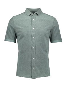 Only & Sons Overhemd onsCUTON SS KNITTED MELANGE SHIRT R 22011833 Grayed Jade