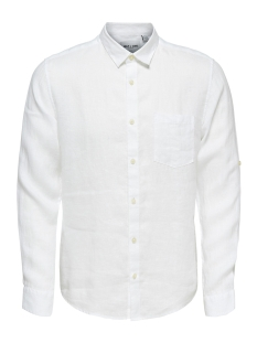 Only & Sons Overhemd onsLUKE LS LINEN SHIRT NOOS 22013258 White