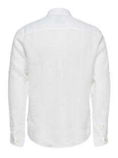 onsluke ls linen shirt noos 22013258 only & sons overhemd white