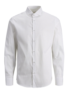 Jack & Jones Overhemd JPRFRANCO PRINT SHIRT L/S PRE 12146543 White/SLIM FIT