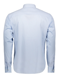 jprfranco print shirt l/s pre 12146543 jack & jones overhemd cashmere blue/slim fit