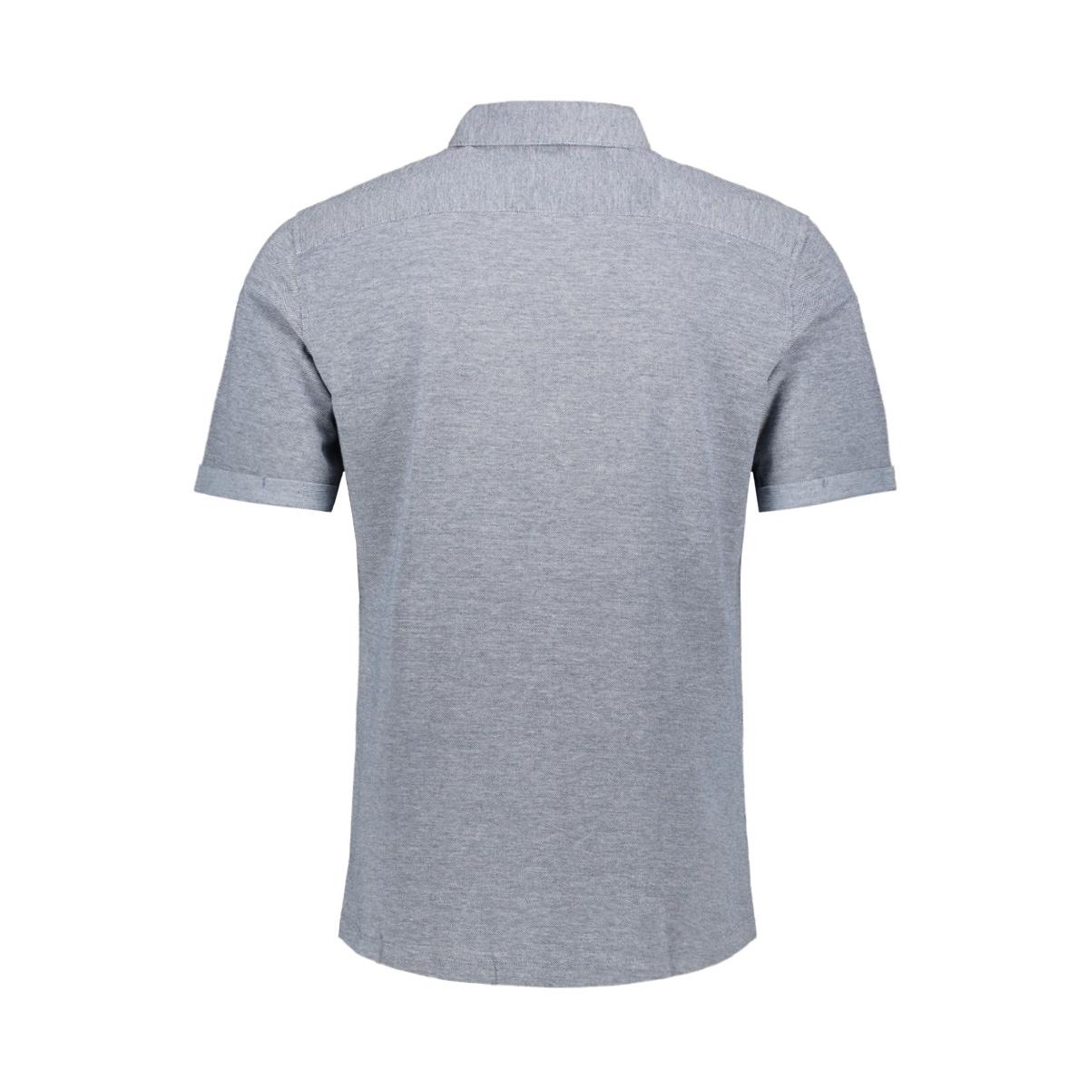 onscuton ss knitted melange shirt r 22011833 only & sons overhemd majolica blue