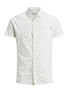 Jack & Jones Overhemd JORRIVER SHIRT SS 12147520 Cloud Dancer/Slim
