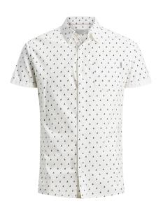 jorriver shirt ss 12147520 jack & jones overhemd cloud dancer/slim
