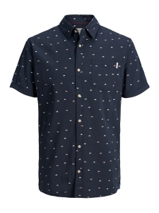 Jack & Jones Overhemd JORRIVER SHIRT SS 12147520 Total Eclipse/Slim