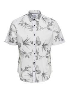 Only & Sons Overhemd onsSHAKIRI SS AOP POPLIN SHIRT 22013083 White