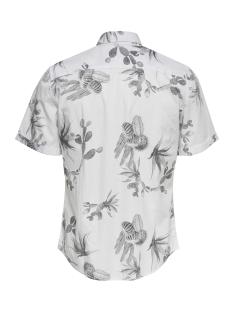 onsshakiri ss aop poplin shirt 22013083 only & sons overhemd white