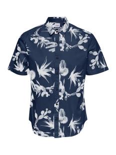 Only & Sons Overhemd onsSHAKIRI SS AOP POPLIN SHIRT 22013083 Majolica Blue