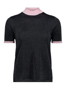 Vero Moda T-shirt VMLUCILE CONTRAST SS HIGHNECK BLOUS 10211898 Night Sky/DTM LUREX