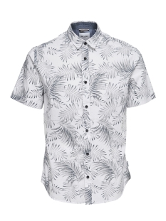 Only & Sons Overhemd ONSTIMOTHY SS FLORAL SHIRT RE 22012326 White