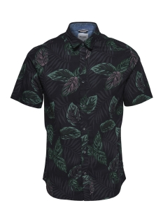 Only & Sons Overhemd ONSTIMOTHY SS FLORAL SHIRT RE 22012326 Black