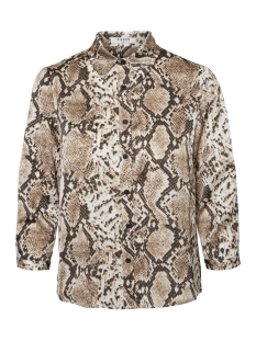 Pieces Blouse PCCELINEN 3/4 NEW SHIRT 17098521 Almond Milk/SNAKE