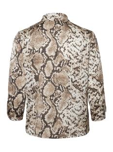 pccelinen 3/4 new shirt 17098521 pieces blouse almond milk/snake
