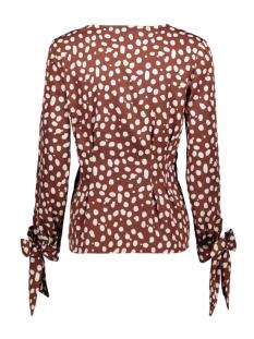 vmseven ls box pleat tie shirt aop 10215472 vero moda blouse rum raisin/non print