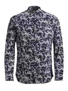 Jack & Jones Overhemd JPRSUMMER PRINT SHIRT L/S BD S19 12148054 Navy Blazer/SLIM FIT