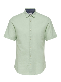 Only & Sons Overhemd onsCAIDEN SS LINEN SHIRT RE 22009885 Grayed Jade