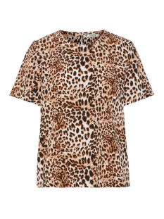 Pieces T-shirt PCBINEA SS TOP PB 17093467 Cloud Dancer/ ANIMAL