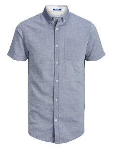 Jack & Jones Overhemd JORANTHONY SHIRT SS ORG 12152555 Chambray Blue