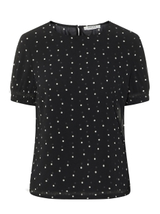 Pieces T-shirt PCAMALIE SS SMOCK TOP NOOS 17093680 Black/DOTS