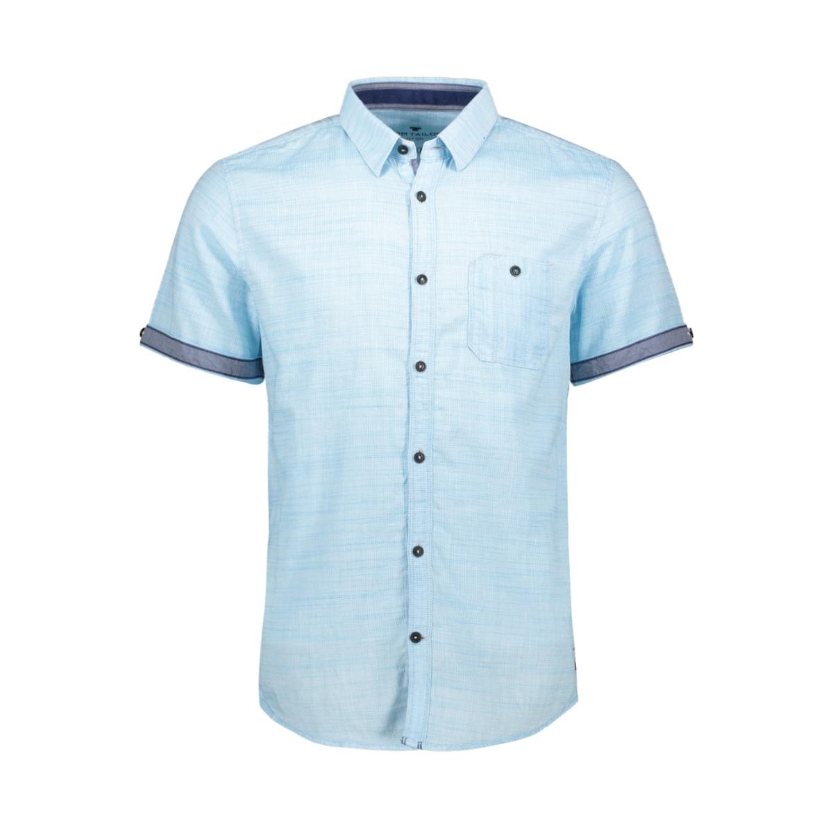 overhemd met motief 1010109xx10 tom tailor overhemd 17098