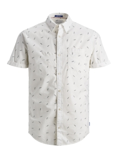 Jack & Jones Overhemd JORLUIS SHIRT SS ORG 12152597 Cloud Dancer