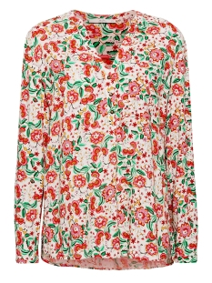 henley blouse met bloemenprint 049cc1f007 edc blouse c110 off white