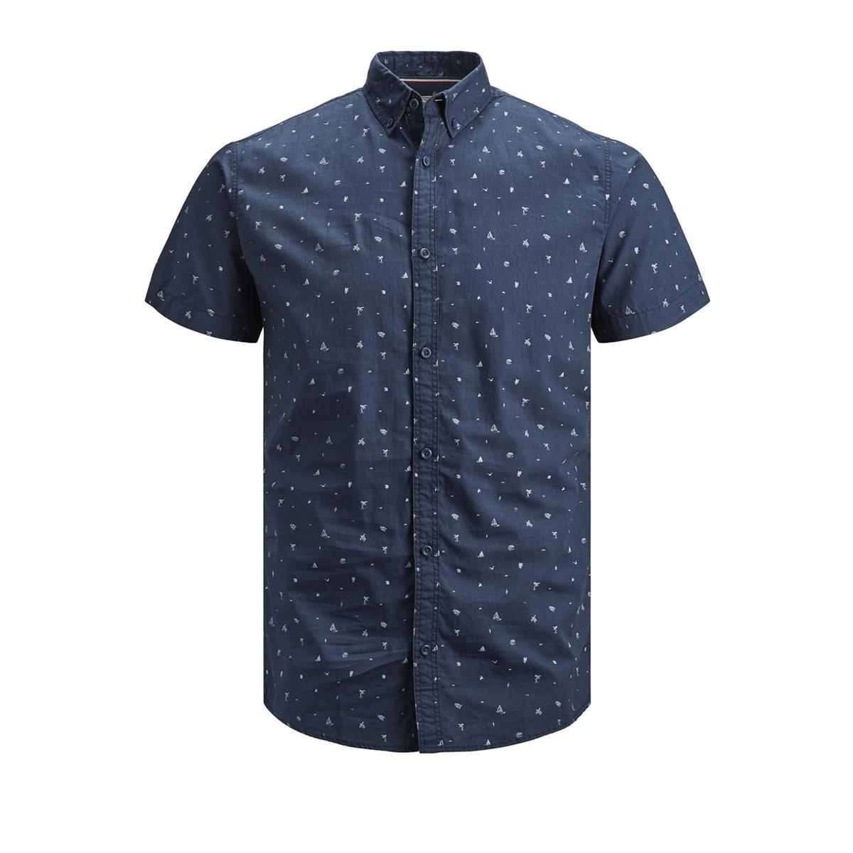 pktdek beach aop shirt ss 12152893 produkt overhemd dark denim