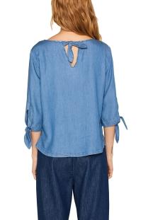 blouse van lyocell mix met denimlook 049ee1f052 esprit blouse e902