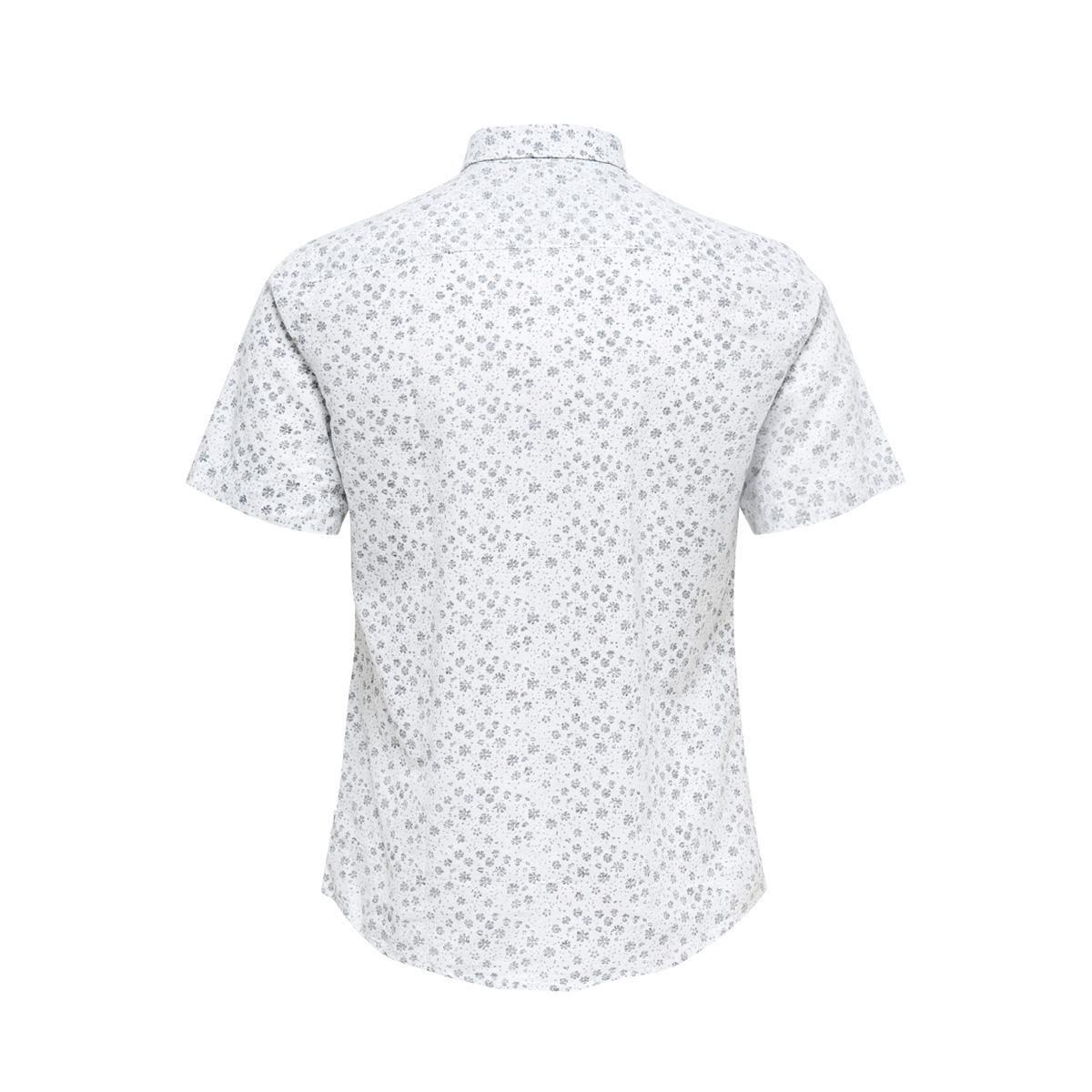 onscaiden ss aop linen shirt re 22012661 only & sons overhemd white