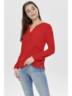 jdytrack l s blouse wvn noos 15149951 jacqueline de yong blouse fiery red