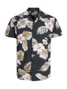 Jack & Jones Overhemd JPRHAWAII RESORT SHIRT S/S AOP 12154411 Black/SLIM FIT