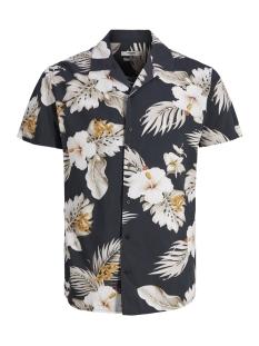 jprhawaii resort shirt s/s aop 12154411 jack & jones overhemd black/slim fit