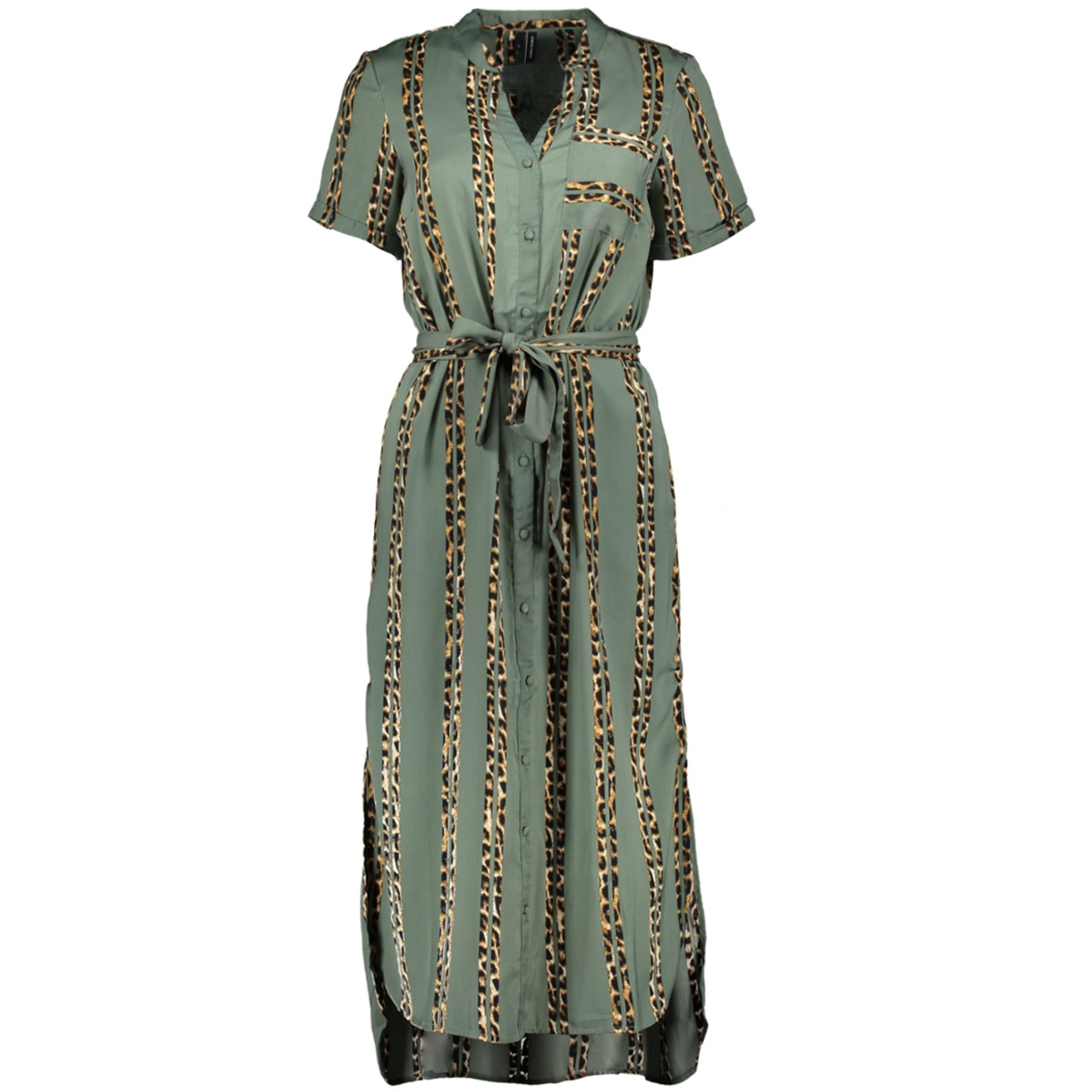 vmdalion s/s slit shirt dress exp 10210858 vero moda jurk laurel wreath
