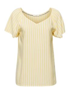 EDC T-shirt GESTREEPTE BLOUSE MET MOOIE HALS 059CC1F002 C745