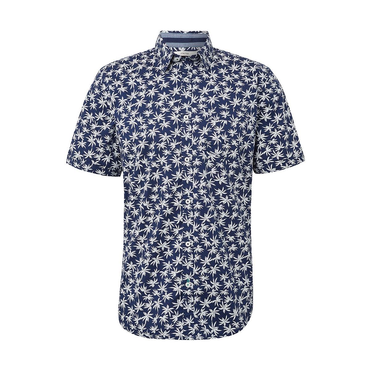 overhemd met patroon 1010870xx10 tom tailor overhemd 17657