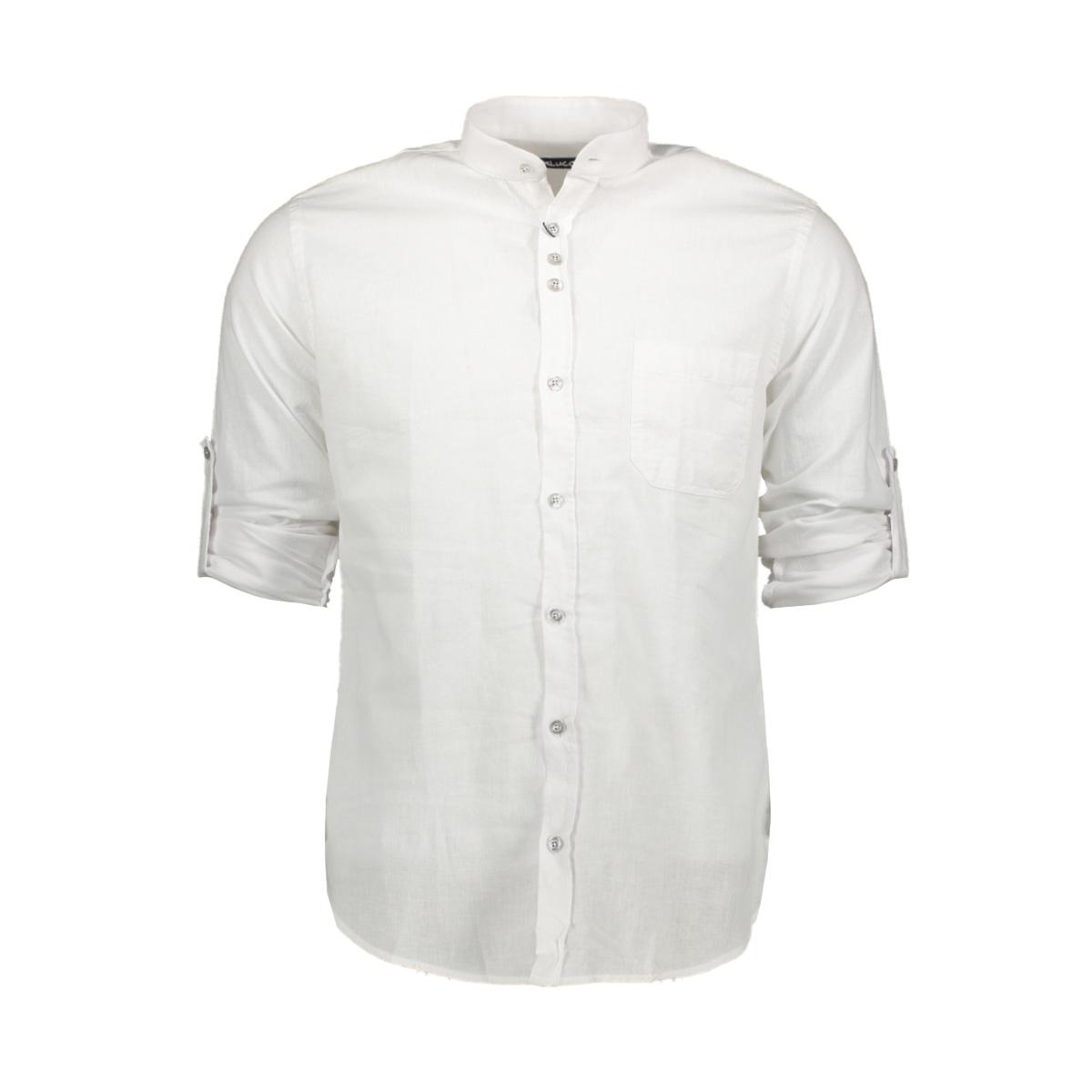 Overhemd Wit.Ferlucci Lucca Linnen Hemd Ferlucci Overhemd Wit