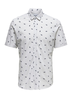 onscuton ss knitted pique aop shirt 22013293 only & sons polo oyster mushroom